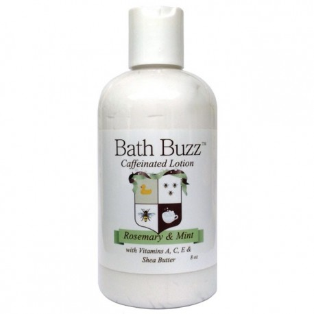 Bath Buzz Caffeinated Lotion - Rosemary Mint - 8oz